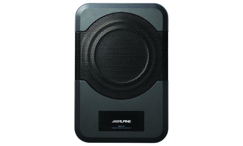 alpine electronics pwe-s8-restyle-compact-powered-8-inch-subwoofer