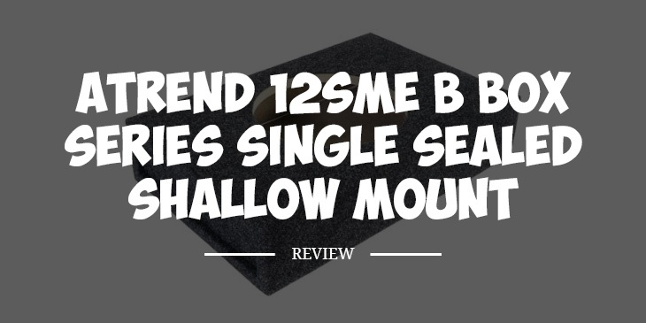 Atrend 12SME Shallow Mount Subwoofer