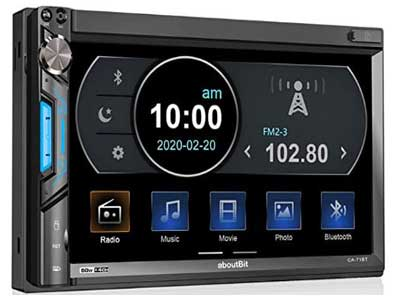 Aboutbit Double Din Touch Screen Car Stereo with Bluetooth