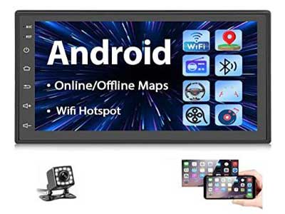 Podofo Double Din Android Car Stereo Receiver