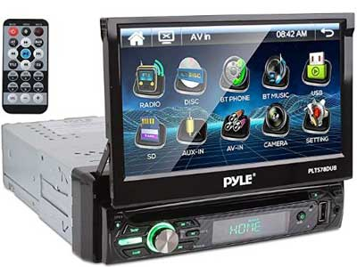 Pyle Single DIN Touch Screen Car Stereo Receiver